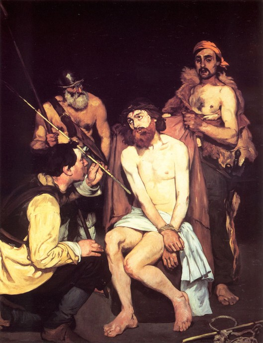 jesus-mocked-by-the-soldiers manet